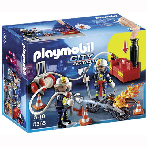 Playmobil - Fire Crew with Water Pump - 5365 - Bunyip Toys - 1