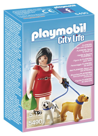 Playmobil - Lady with Puppies - 5490 - Bunyip Toys - 1