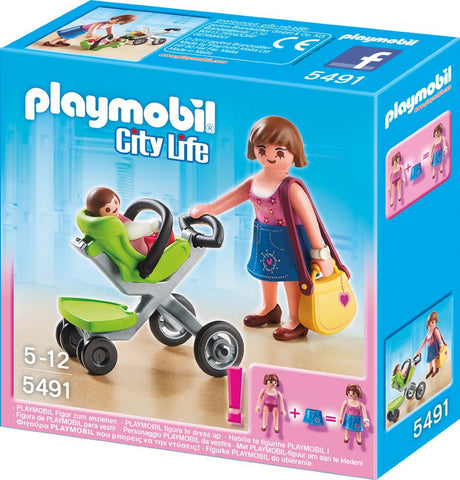 Playmobil - Mother with Baby Stroller - 5491 - Bunyip Toys - 1