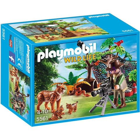Playmobil -  Lynx Family and Photographer  - 5561 - Bunyip Toys - 1