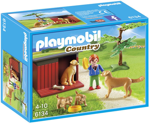 Playmobil - Golden Retriever Family - 6134 - Bunyip Toys - 1