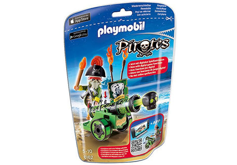 Playmobil - Pirate with Green Cannon App - 6162 - Bunyip Toys
