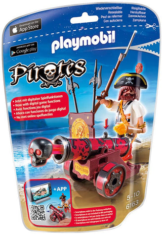Playmobil - Pirate with Red Cannon App - 6163 - Bunyip Toys