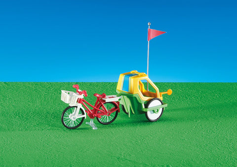 Playmobil - Bicycle with Baby Trailer - 6388 - Bunyip Toys