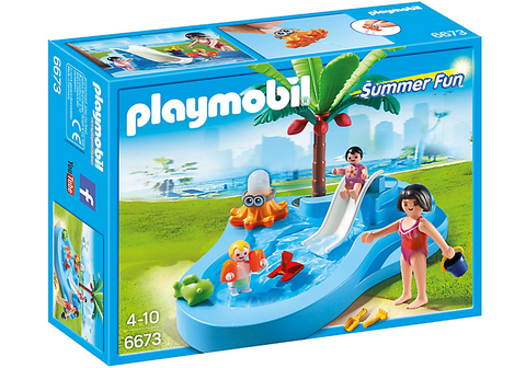 Playmobil - Baby Pool with Slide - 6673 - Bunyip Toys - 1