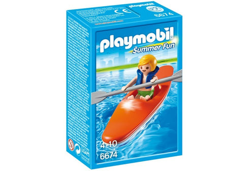 Playmobil - Child in Kayak - 6674 - Bunyip Toys - 1