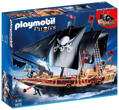 Playmobil - Black Pirate Ship - 6678 - Bunyip Toys - 1