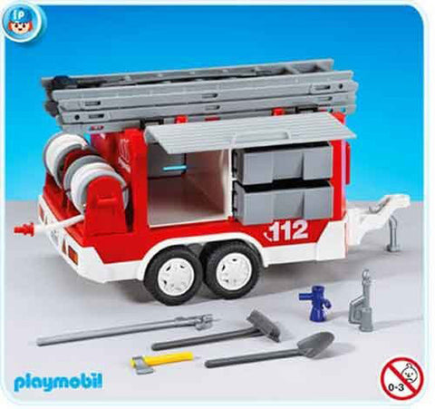 Playmobil - Fire Trailer - 7485 - Bunyip Toys
