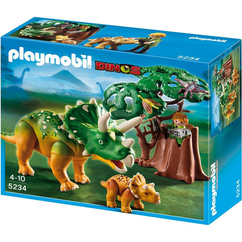 Playmobil - Triceratops and Baby - 5234 - Bunyip Toys - 1