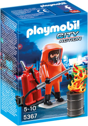 Playmobil - Hazardous Duty Fire Fighter - 5367 - Bunyip Toys - 1