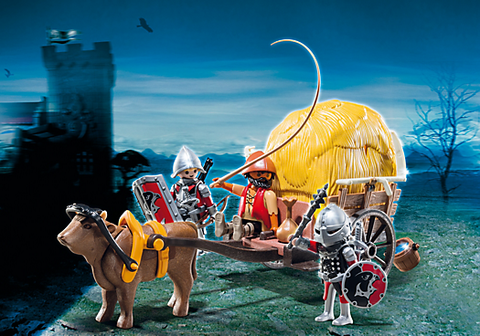 Playmobil - Knights and Hay Wagon - 6005 - Bunyip Toys