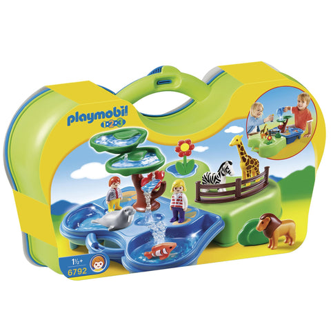 Playmobil - 1-2-3 Takealong Zoo - 6792 - Bunyip Toys - 1