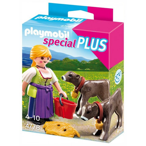Playmobil - Farmer with Calves - 4778 - Bunyip Toys - 1