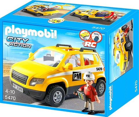 Playmobil - Site Foreman With Car - 5470 - Bunyip Toys - 1