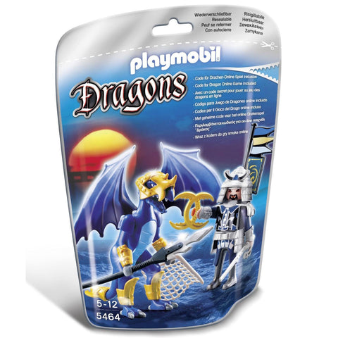 Playmobil - Ice Dragon and Warrior - 5464 - Bunyip Toys - 1