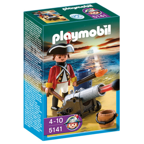 Playmobil - Red Coat and Cannon - 5141 - Bunyip Toys - 1