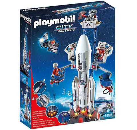 Playmobil - Space Rocket and Launcher - 6195 - Bunyip Toys - 1