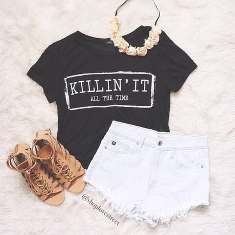 Killin' It Crop Top