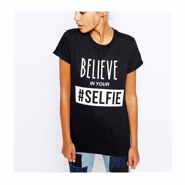 Believe In Your Selfie Graphic Tee