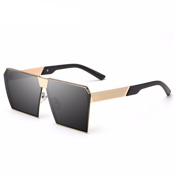 Oversized Flat Top Square Sunglasse