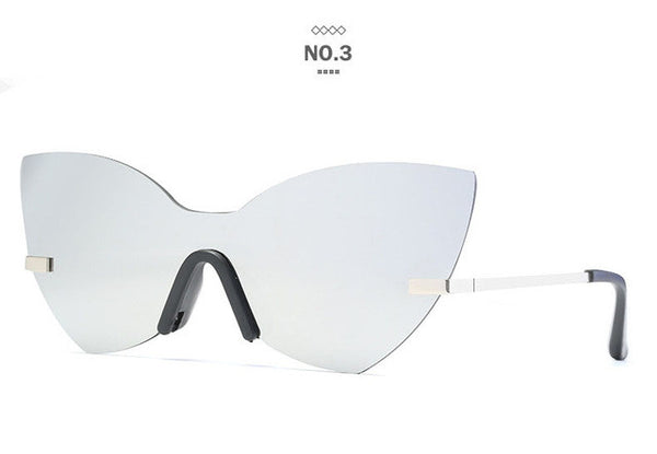 New Cat Eye No Frame Sun Glasses