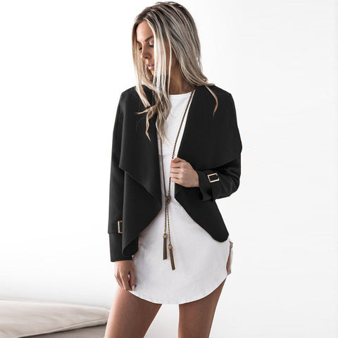 Long Sleeve Turn Down Collar Jacket