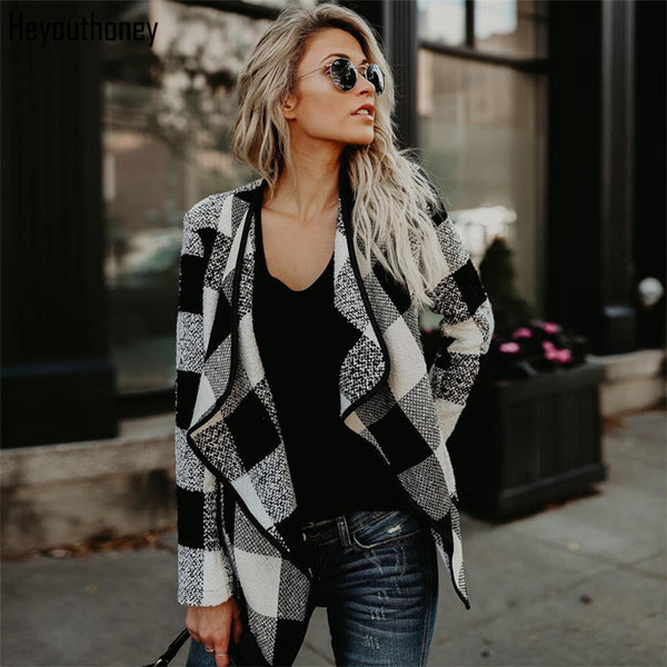 Winter Casual Plaid Turn-Down Jacket