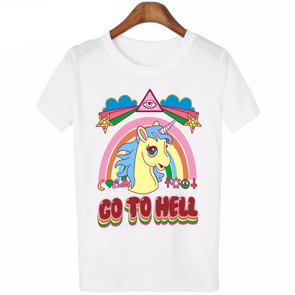 Unicorn Go To Hell  T-shirt