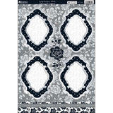 Shabby Chic Die-Cut Punch-Out Sheet - Large Frame Black