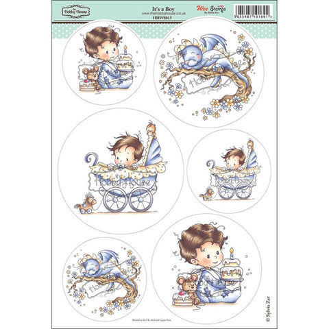 "Wee Stamps Topper Sheet 8.3""X12.2"" - It's a Boy"