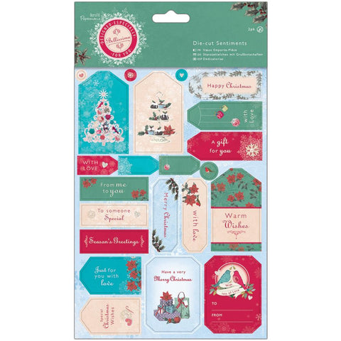 Papermania Bellissima Christmas Die-Cut Sentiment Sheets 2pk