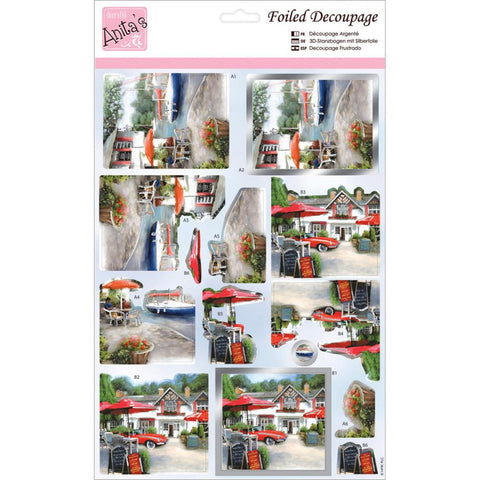 Anita's A4 Foiled Decoupage Sheet - Riverside Pub