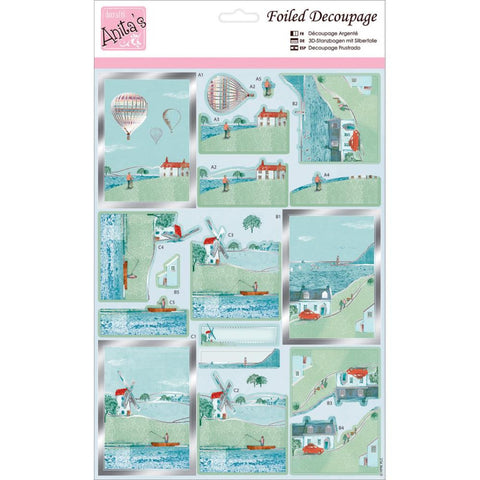 Anita's A4 Foiled Decoupage Sheet - By The Sea