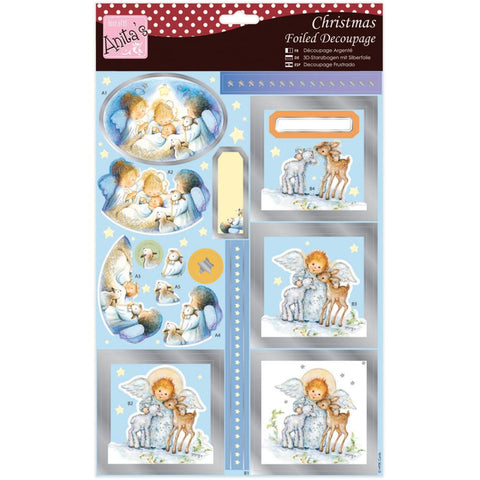 Anita's A4 Foiled Decoupage Sheet - Cute Angel