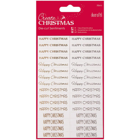 Papermania Create Christmas Sentiments Die-Cuts 32/Pkg
