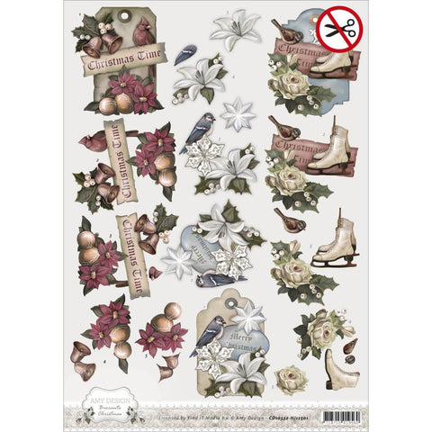 Find It Amy Design Brocante Christmas Punchout Sheet - Tags