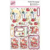 Anita's A4 Foiled Decoupage Sheet - Heart Shaped Chocolates