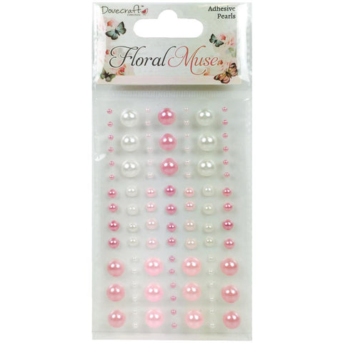 Dovecraft Floral Muse Adhesive Pearls
