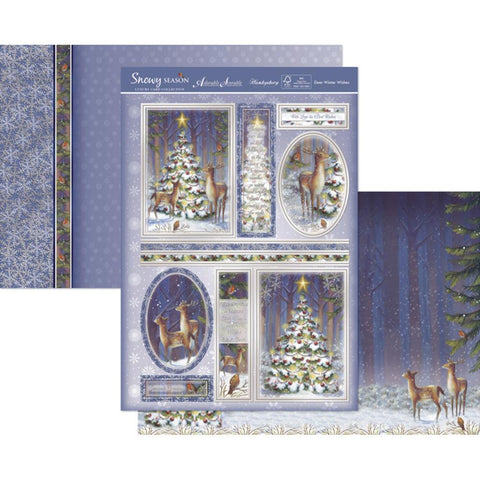 Hunkydory Snowy Scenes A4 Topper Set - Deer Winter Wishes