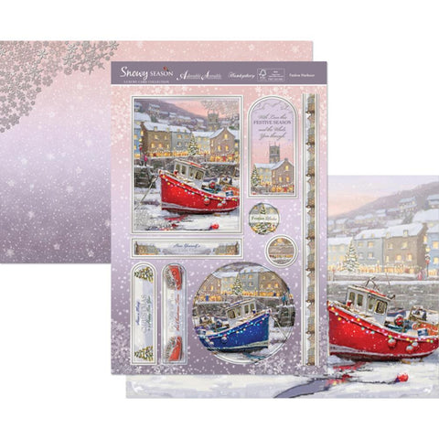 Hunkydory Snowy Season A4 Topper Set - Festive Harbour