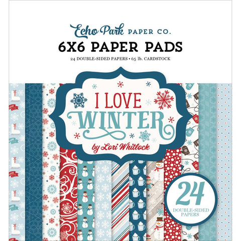 "Echo Park Double-Sided Paper Pad 6""X6"" 24/Pkg - I love Winter"