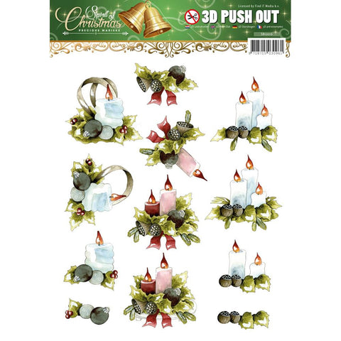 Find It Trading Precious Marieke Push Out Sheet - Spirit Of Christmas - Candles