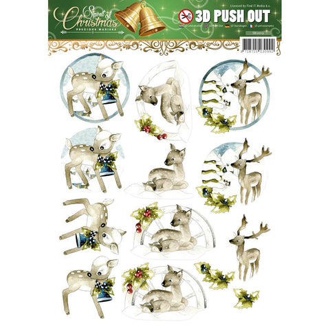 Find It Trading Precious Marieke Punchout Sheet - Spirit Of Christmas - Deer