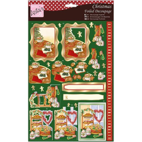 Anita's A4 Foiled Decoupage Sheet - Festive Treats