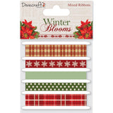 Dovecraft Winter Blooms Ribbon Pack