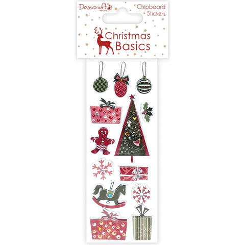 Dovecraft Christmas Basics Chipboard Stickers