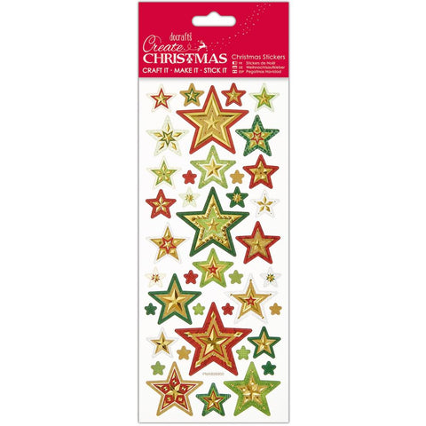 Papermania Create Christmas Foiled & Embossed Stickers - Christmas Stars