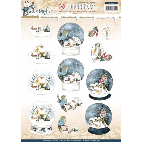 Find It Precious Marieke Winter fun Punchout Sheet - Globe Landscape