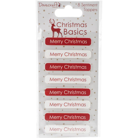 Dovecraft Christmas Basics Adhesive Toppers