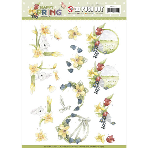 Find It Precious Marieke Happy Spring Punchout Sheet
